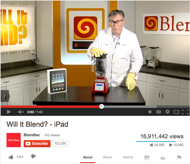 Will it blend viral YouTube series